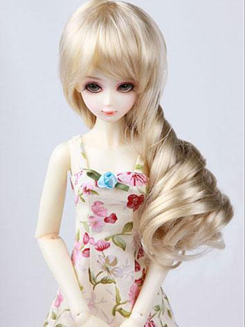 Wig 7in Rwigs45-6 of MSD BJD (Ball-jointed Doll)