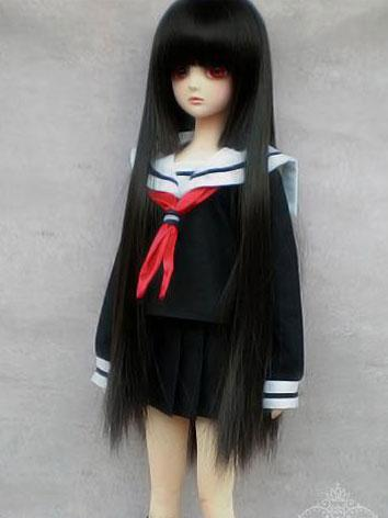 BJD Clothes black student clothes set for SD/MSD