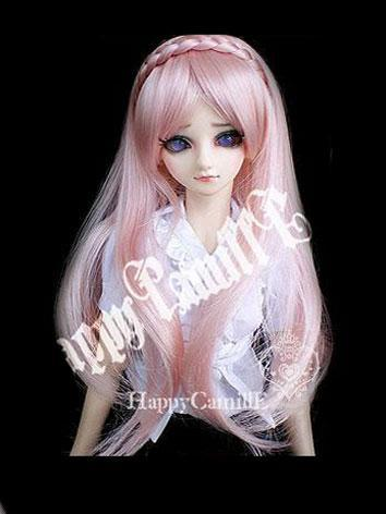 BJD Wig long hair pink for ...