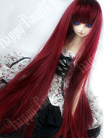 BJD Wig red long Straight W...