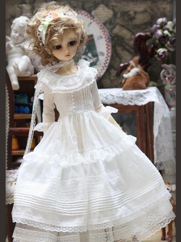 BJD Clothes white dress set for SD Ball-jointed Doll