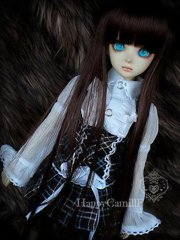 BJD Wig Long Brown Hair for...
