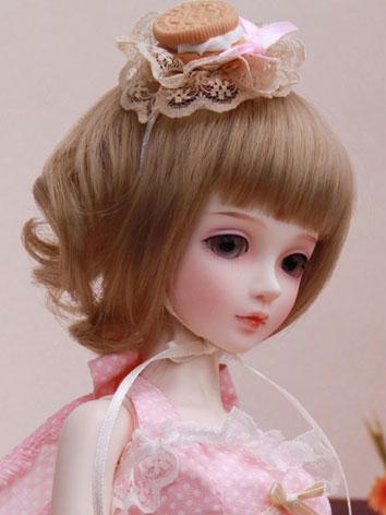 BJD Wig Short Dark Brown fo...