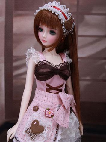 BJD Wig Long Straight Brown...