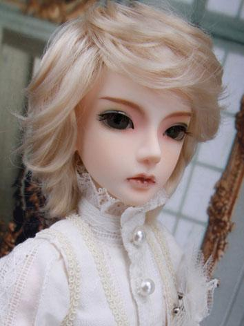 BJD Wig Short Light Golden ...