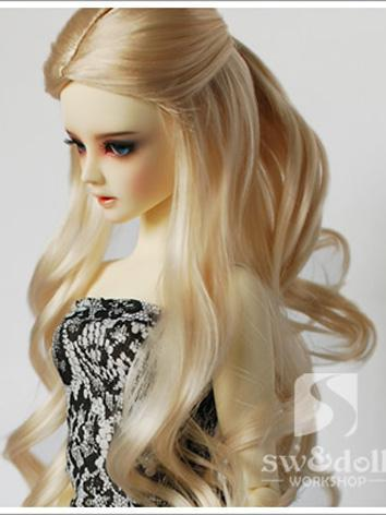 BJD Wig Light Golden Pricess Curly Hair Wig JW038 for SD/MSD/YSD Ball Jointed Doll