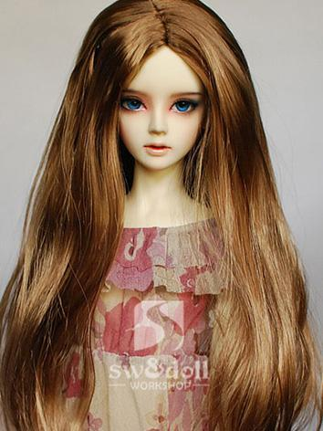 BJD Wig Brown Long Straight...