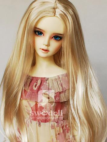 BJD Wig Gold Long Straight ...