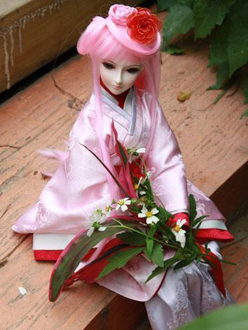 BJD Wig Pink 3-003 for SD