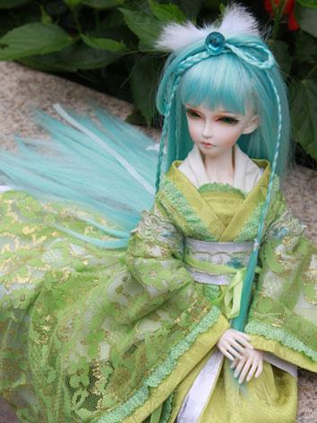 BJD Wig Green 4-002 for MSD