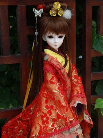 BJD Wig Red 4-001 for MSD