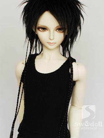BJD Wig Black for SD braide...