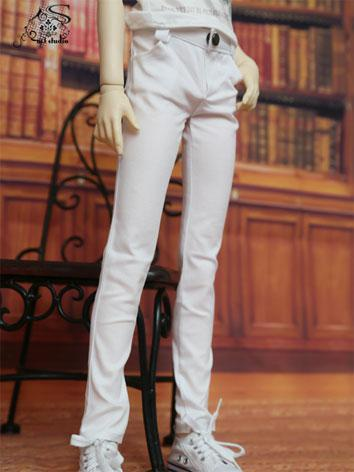 BJD Clothes White Trousers for 70cm/SD/MSD Ball-jointed Doll