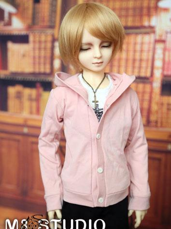 BJD Clothes Pink coat for 7...