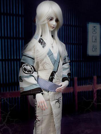 BJD Clothes Yukata White an...