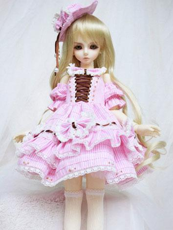 BJD Clothes Pink dress for ...
