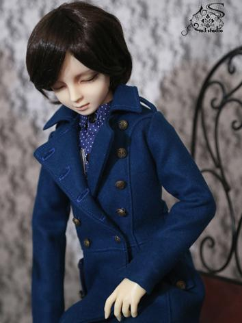 BJD Clothes Blue coat for 7...