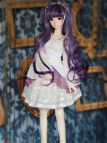 Bjd Clothes white&purple Ba...