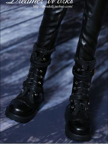 Bjd Shoes Black Boots for 7...