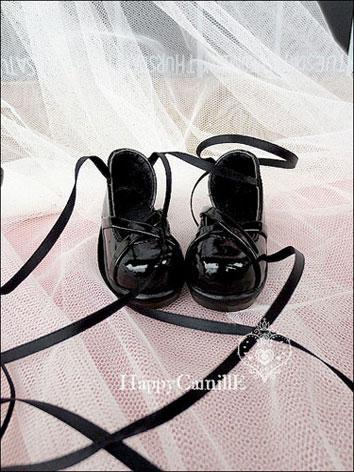 Bjd Black Shoes With Ribbon for SD/MSD Ball-jointed Doll