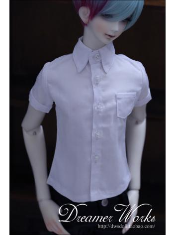 BJD Clothes White Shirt Boy for 70cm/SD/MSD Ball-jointed Doll