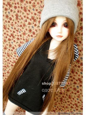BJD Clothes Gray Hat Girl f...