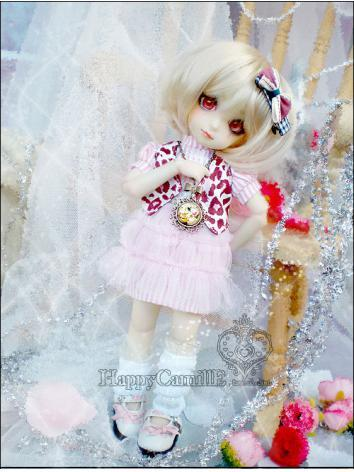 BJD Clothes Pink Skirt for ...