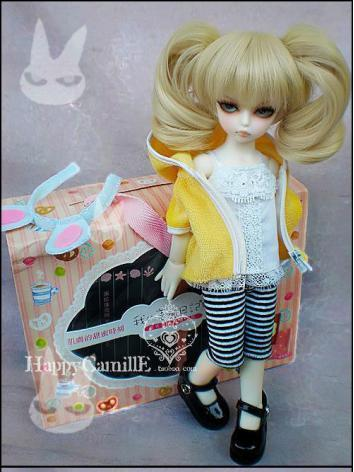 BJD Clothes Yellow Towel Co...