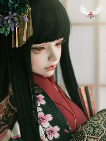 Bjd Clothes Black Kimono Set for 75cm /SD size Ball-jointed Doll