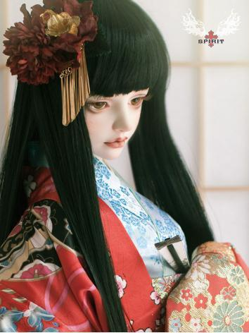 Bjd Clothes Red Kimono Set for 75cm /SD size Ball-jointed Doll