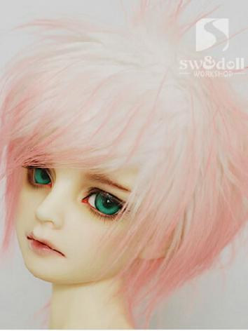 BJD Wool Wig Pink 81 for SD...