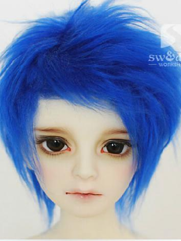 BJD Wool Wig Blue 87 for SD...