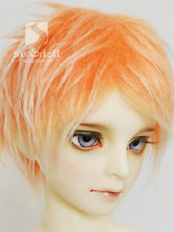 BJD Wool Wig Orange 85 for ...