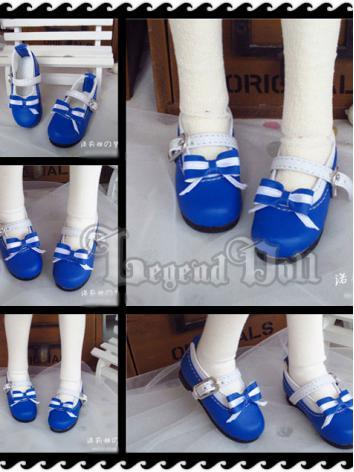 BJD Navy Blue Shoes for MSD Ball-jointed Doll