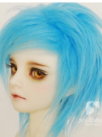 BJD Wool Wig Light Blue 90 for SD/MSD/YO-SD/BB Size Ball-jointed Doll