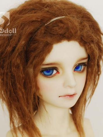 BJD Wool Wig Brown 93 for SD/MSD/YO-SD/BB Size Ball-jointed Doll