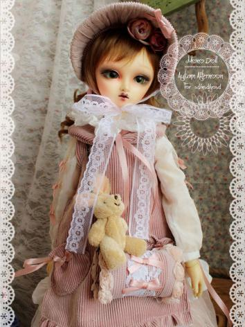 BJD Clothes Pink Green Autumn Afternoon for SD/MSD Ball-jointed Doll