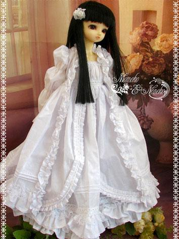 BJD Clothes Snowdrop Dress for SD/MSD/YSD/DD Ball-jointed Doll