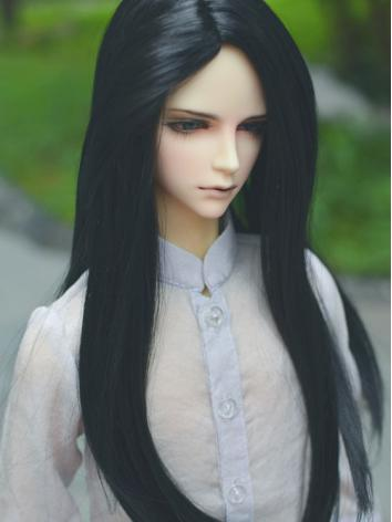 BJD Black Long Hair Wigs for SD Size Ball-jointed Doll