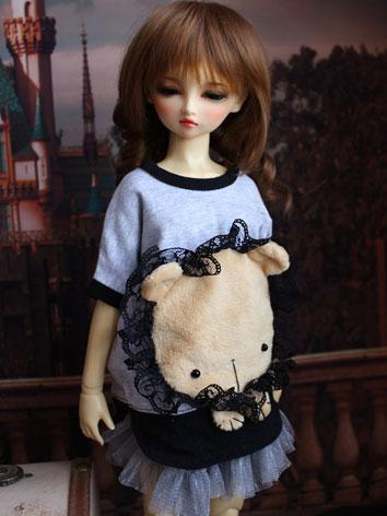 BJD Clothes Cute Lion T-shi...