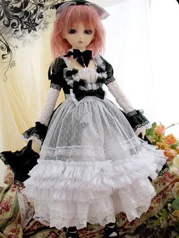 BJD Clothes Black&White Dress for SD Ball-jointed Doll
