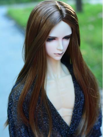 BJD Brown Long Hair Wigs fo...
