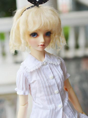 BJD Golden Curly Wigs for S...