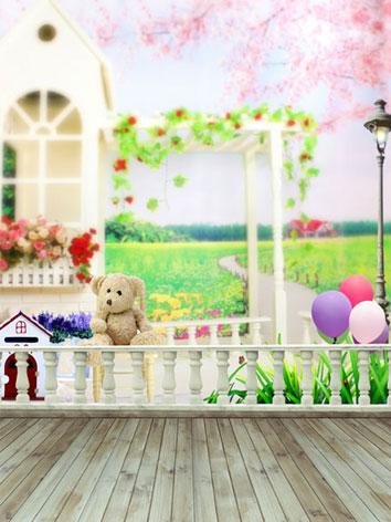 BJD Background/Scenery/Backdrop Bear House Photography Settings y2783 Ball-jointed Doll