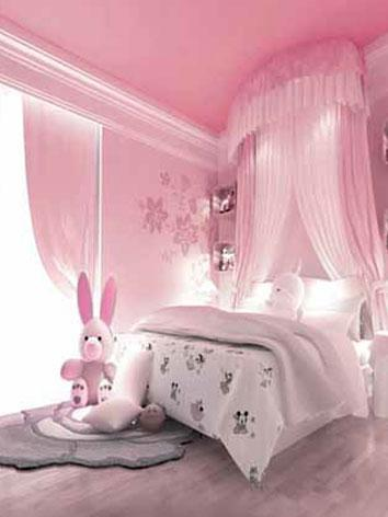 BJD Background/Scenery/Backdrop Pink Romantic Room Photography Settings 6836 Ball-jointed Doll