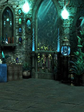 BJD Background/Scenery/Backdrop Undersea Palace Photography Settings 7943 Ball-jointed Doll