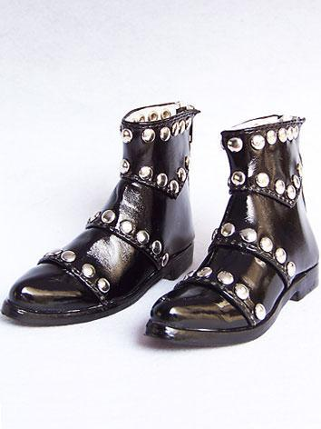 Bjd Shoes Rivet Black Shoes 10605 for 70cm Size Ball-jointed Doll