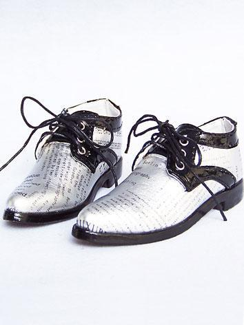 Bjd Shoes Silver&Black Shoes 10607 for 70cm Size Ball-jointed Doll