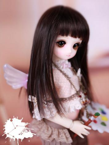 【Limited Edition】BJD Straight Bang Long Black Hair Wig WG614051 for YO-SD Size Ball-jointed Doll