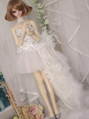 BJD Clothes White Dress Sui...